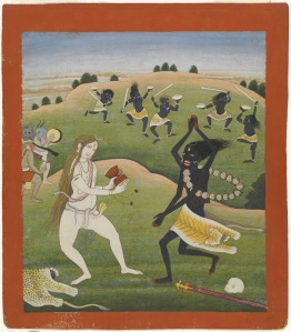 Dance-of-Shiva-and-Kali,-18th-19th-Century